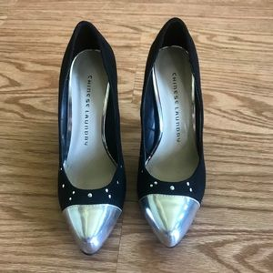Chinese Laundry Heels, Black&Silver Size 6